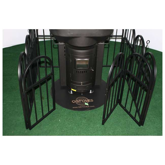 QGATE Q Stoves Q Gate Fence Protective Barrier for Q Flame Outdoor Patio Heater, Black 3