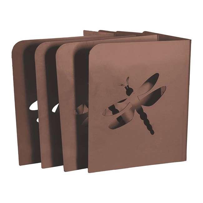 11023BL Bloom InstaBrace Steel Raised Garden Bed Brace w/ Dragonfly Cutout (4 Braces)