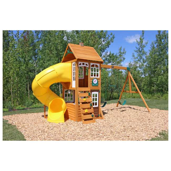 F24953 KidKraft F24953 Creston Lodge Kids Wooden Outdoor Playset 1
