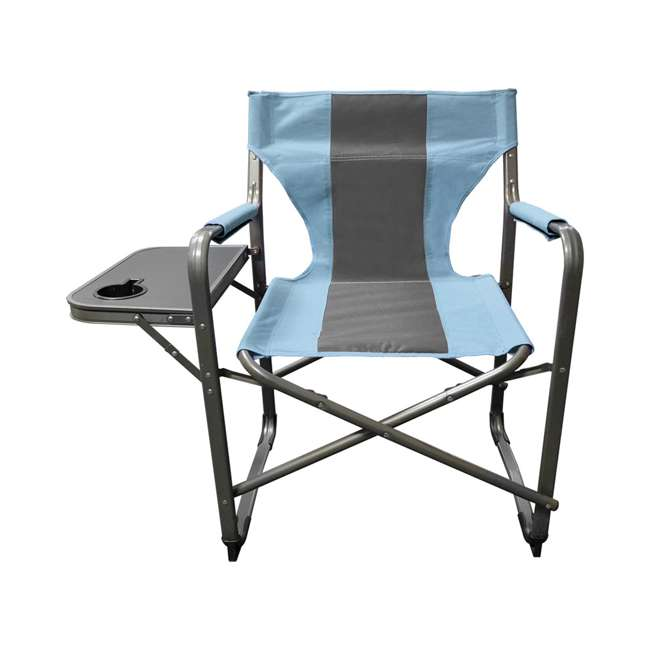 CVANDFC01022-2PK-U-B Caravan Canopy Elite Portable Director's Folding Chair, Blue/Grey (2 Pack)(Used) 1