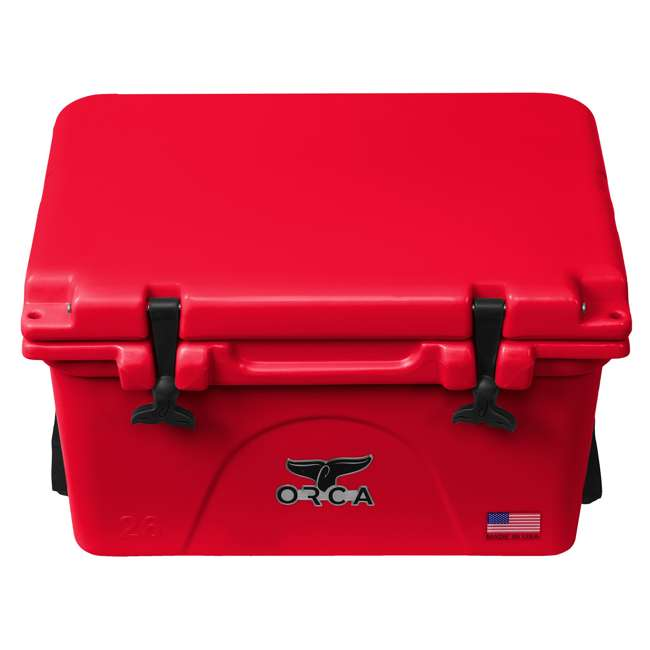 ORCRE/RE026 ORCA 26-Quart 6.5-Gallon Ice Cooler, Red 1