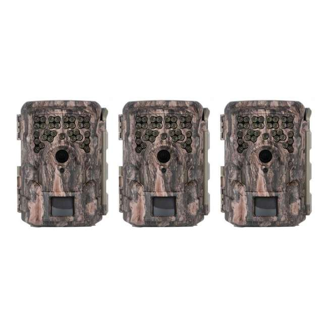 3 x MCG-13332 Moultrie M8000i Invisible Flash Mobile Compatible Game Hunting Camera (3 Pack)