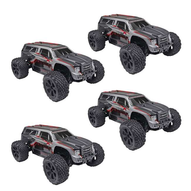 4 x BLACKOUT-XTE-SILVERSUV Redcat Blackout XTE Electric RC Monster Truck SUV (4 Pack)