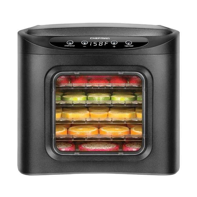 RJ43-SQ-6T Chefman RJ43-SQ-6T 6 Tray Digital Touch Display BPA Free Food Dehydrator, Black
