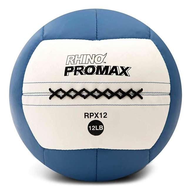 RPX12 Champion Sports Soft Shell Rhino Promax Slam Royal Blue Medicine Ball, 12 Pounds