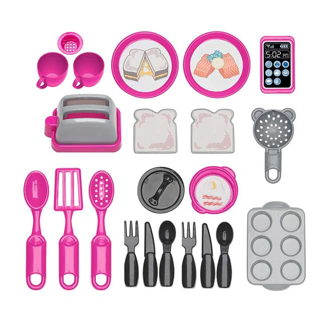 APT-11710 American Plastic Toys Kids First Bakers Kitchen Playset with 22 Accessories  1