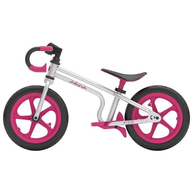 CPFX01PIN Chillafish Fixie Fixed Gear Styled Balance Bike w/ Airless Tires, Pink 1