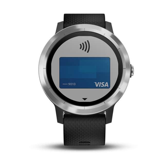 010-01769-01 Garmin Vívoactive 3 Active Smartwatch, Black with Silver 6