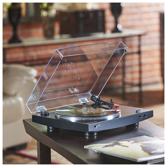 AT-LP3BK-OB Audio Technica LP3BK Automatic Belt-Drive Stereo Turntable Record Player 2