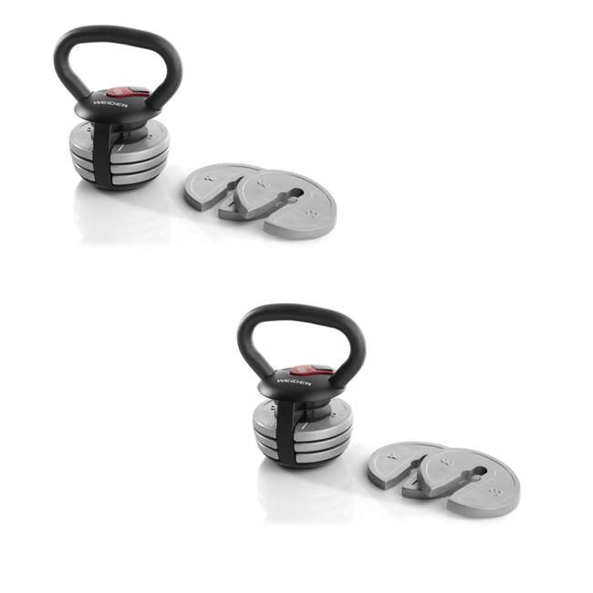 WAWkB2017 Weider PowerBell 20-Pound Workout Kettlebell (2 Pack)