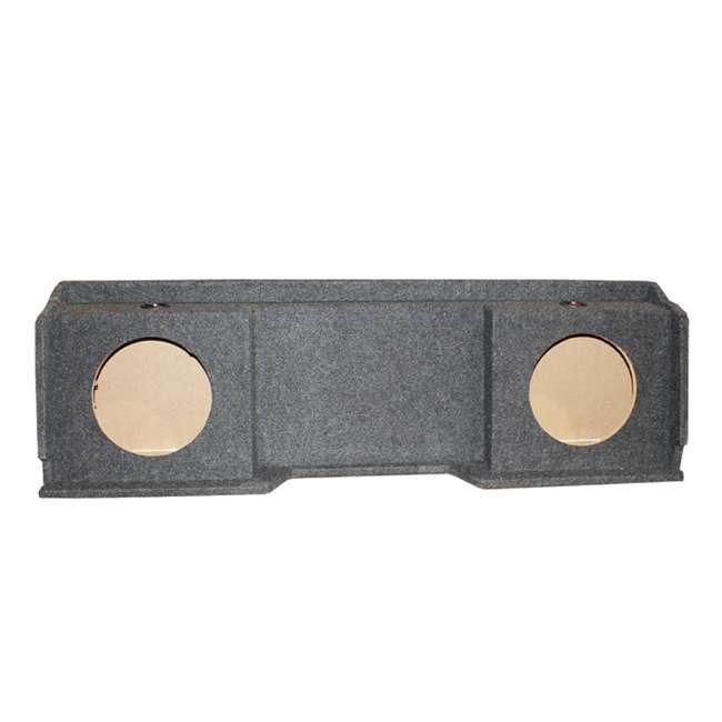 QGMC10DF + 2 x 43C104 + R1100M + 4GAMPKIT-SFLEX Kicker 10C104 Gmc Chevy Silverado Extended Cab '99-06 Dual Subwoofer Package Box Amp Wire (Pair) 6