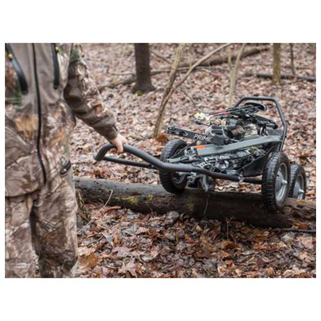 HWK-HA3420 Hawk Crawler 500 Pound Capacity Foldable Multi Use Game Recovery Cart, Black 6