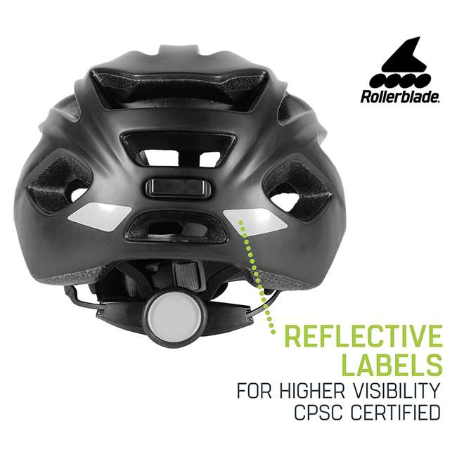 069H0210100-L Rollerblade USA 069H0210100-L Unisex Skate Helmet with 18 Vents Large, Black 4