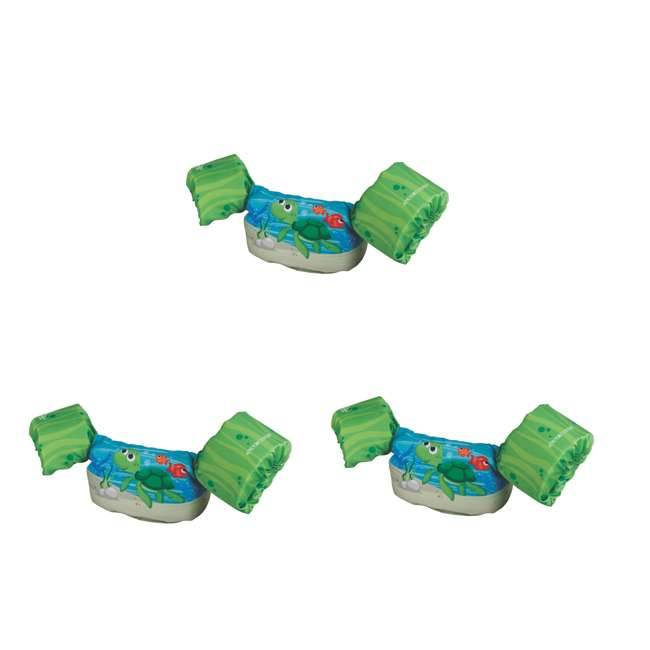 3 x 3000004461 Stearns Puddle Jumper Deluxe Life Jacket, Green Turtle (3 Pack)