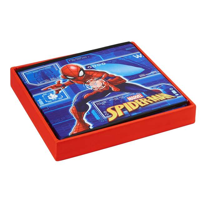 520018-001 Fresh Home Elements 15-Inch Portable Toy Chest & Ottoman Cube, Marvel Spider-Man 4