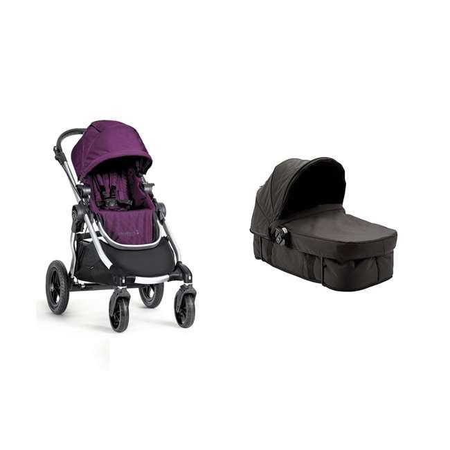 1959409 + 50926 Baby Jogger City Select Compact Baby Stroller + Baby Jogger Pram Bassinet Kit