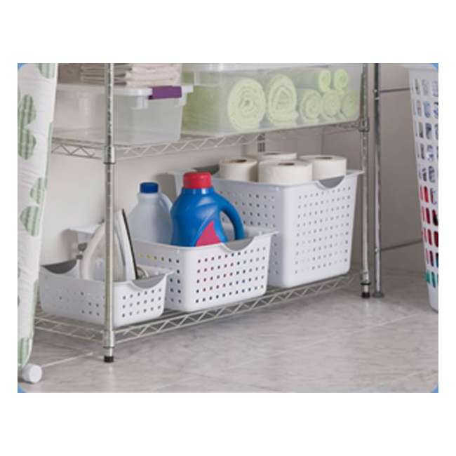 72 x 16288006-U-A Sterilite Deep Ultra Plastic Storage Bin Baskets - White (Open Box) (72 Pack) 1