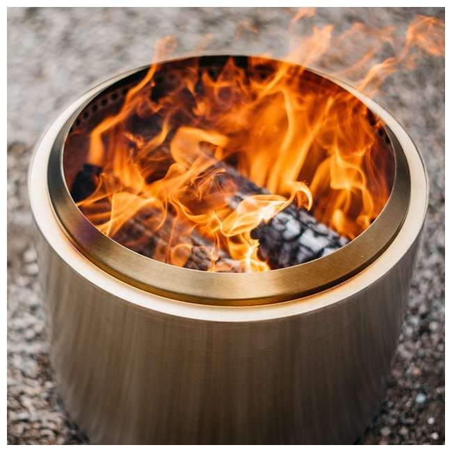 SSBON Solo Stove Outdoor Campsite Doubled Walled Stainless Steel Portable Bonfire 3