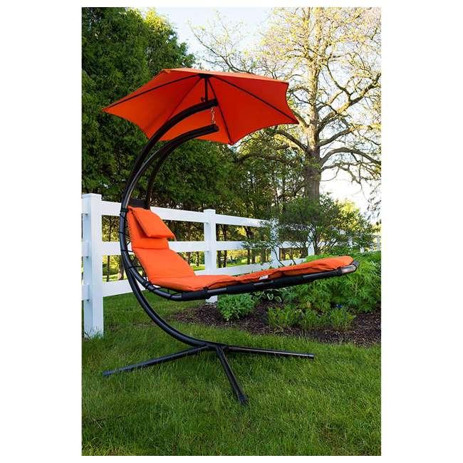 DREAM-OZ Vivere The Original Dream Lounger Steel Backyard Patio Deck Chair, Orange Zest 2