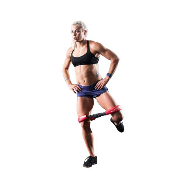HH-R Crossover Symmetry CS Hip and Core Loop Medium Resistance Band System, Red 2