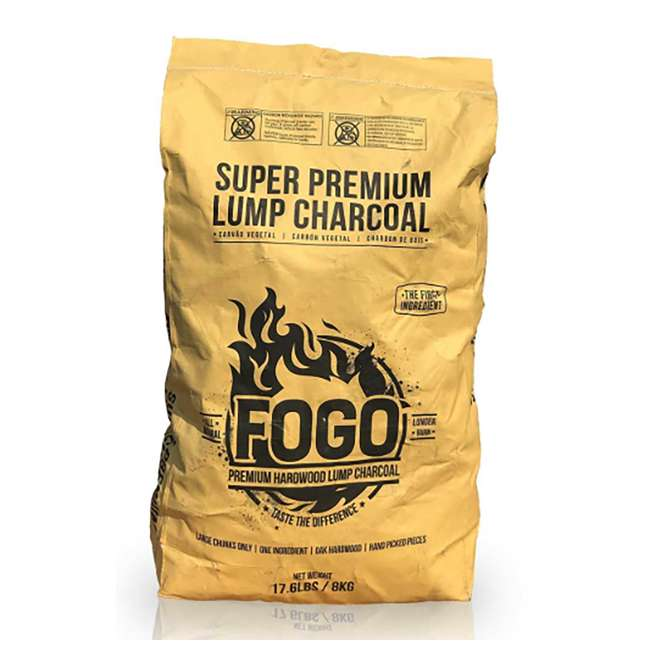 FG-CH-FP-17/FB-17 FOGO Super Premium and Premium Oak All-Natural Hardwood Lump Charcoal, 17 Pounds