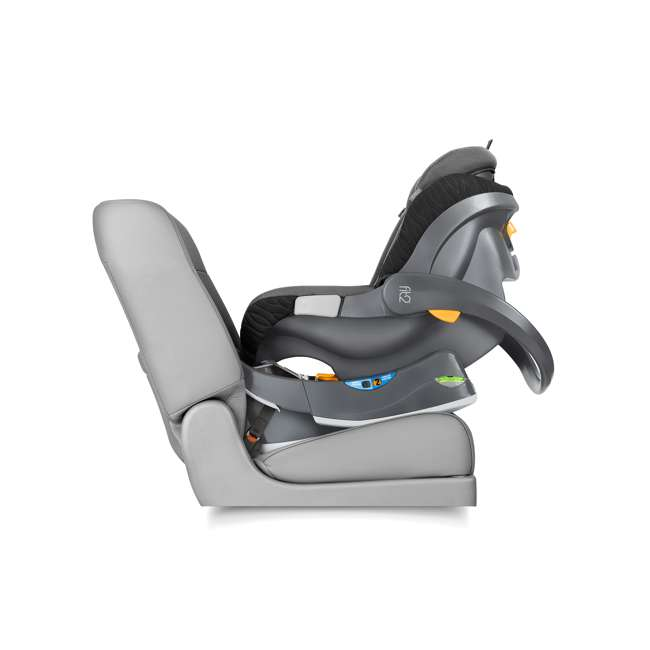 CHI-0407977128 Chicco Fit2 Infant/Toddler Rear Facing Car Seat w/ 2 Stage Base, Tullio Blue 3