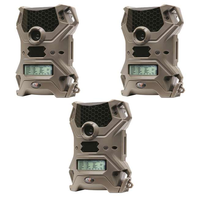 3 x WGI-V10i20A1 Wildgame Innovations Vision 10 10MP IR Game Trail Camera (3 Pack)