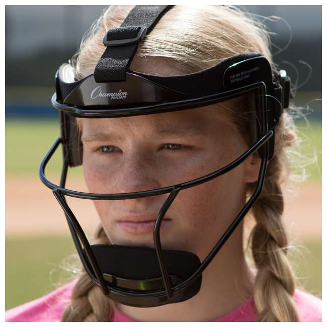 FMASL Champion Sports FMASL Adjustable Adult Softball Fielder's Face Mask, Silver 4
