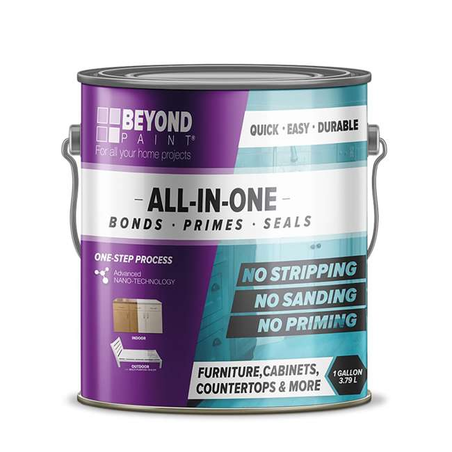 BP24 Beyond Paint Furniture and Cabinets Refinishing Paint, Gallon, Bright White