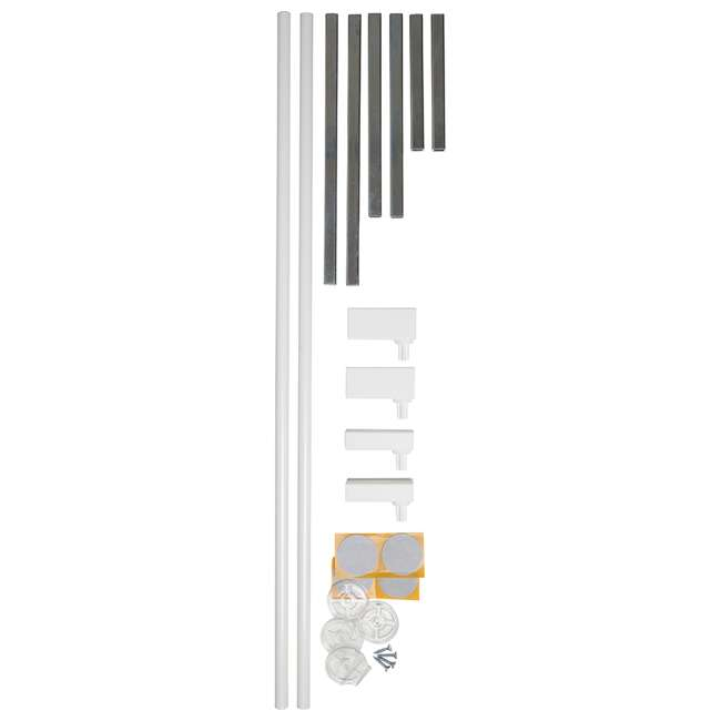 "BBD-58014-5400 BabyDan Extend A 2 x 2.6"" Gate Kit for Premier Doorway Safety Baby Gates, White 3"