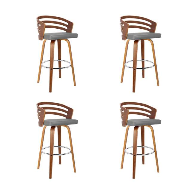 4 x LCJYBAGRWA26 Armen Living Jayden 26 Inch Mid Century Swivel Barstool Chair, Gray (4 Pack)