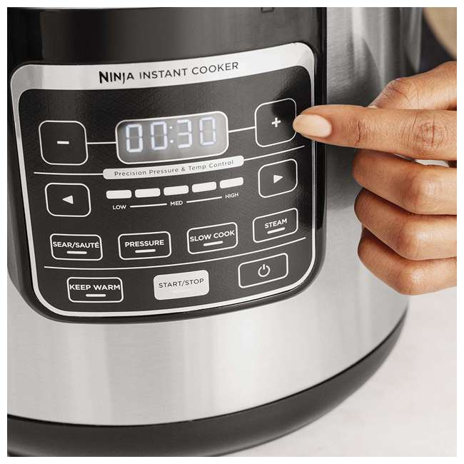 PC101_EGB-RB Ninja PC101 Instant Cooker with Steam Rack, Black (Certified Refurbished) 2