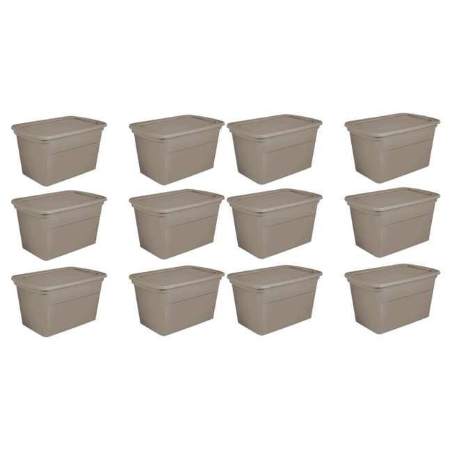 12 x 17366506 Sterilite 30 Gallon Storage Tote, Taupe (12 Pack)