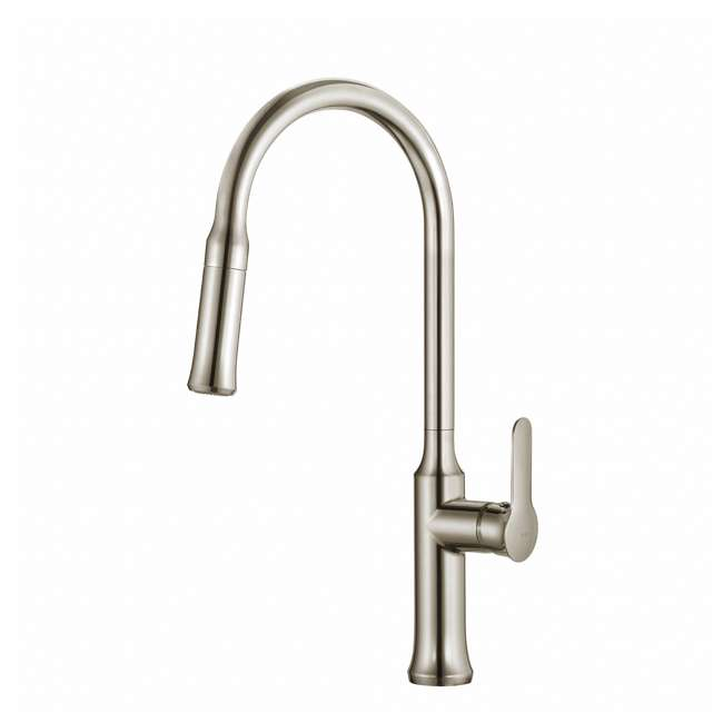 4 x KPF-1630SS Kraus Nola Single Lever Pull-Down Kitchen Faucet, Stainless Steel (4 Pack) 1