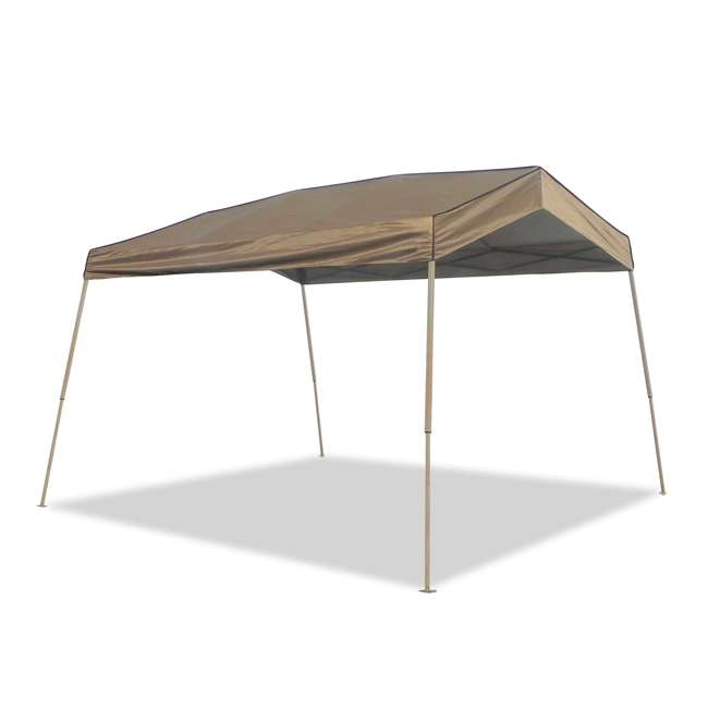 ZS1412PANTN + ZSHDSK4 + ZSHDWB4 Z-Shade 12 x 14 Foot Instant Pop Up Canopy Tent w/ Steel Stakes & Weight Bags 1