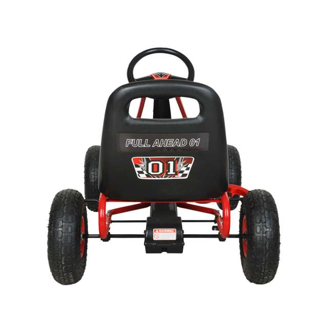 1 PGCR NextGen Pedal Go Cart for Children with Adjustable Seat and Pneumatic Tires, Red 3