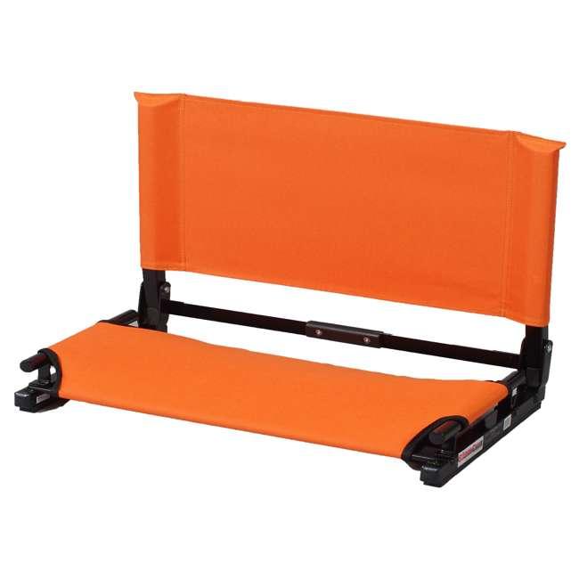 WSC2-ORNG Stadium Chair Deluxe Game Changer Folding Bleacher Seat, Orange