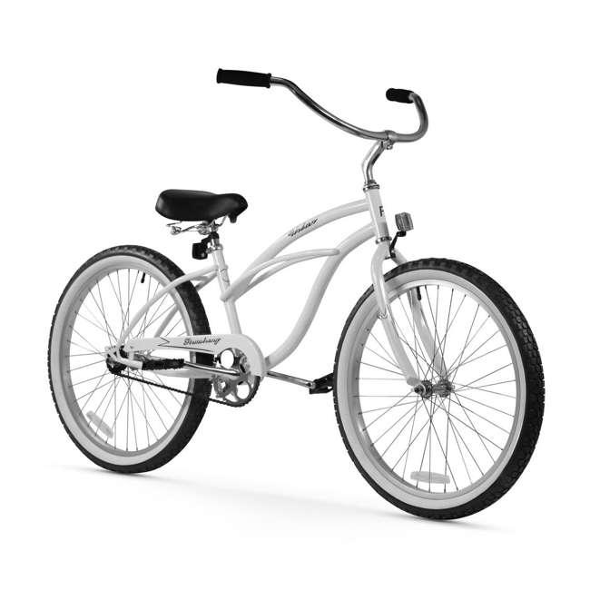 "15007 Firmstrong Urban Lady Women's 24"" Beach Cruiser Bike, White"