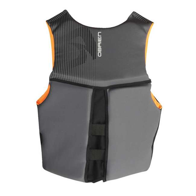 6 x 2161736-MW OBrien BioLite Series Men's Flex V Back Life Vest Size L, Black/Orange (6 Pack) 2