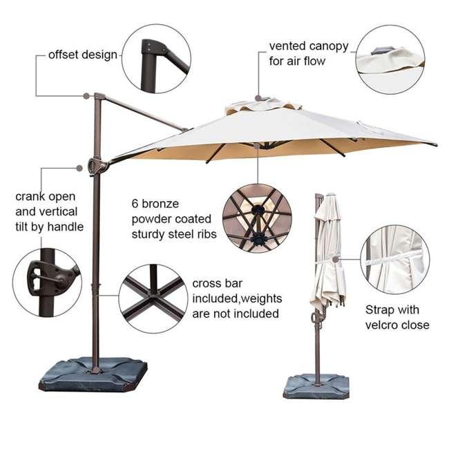 APNRC810SC Abba Patio 8 x 10 Feet Rectangular Umbrella, Sand 7