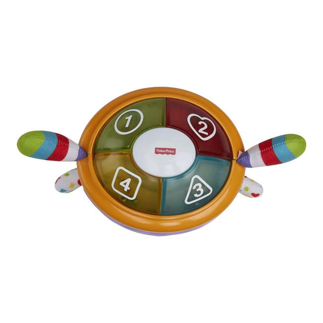 DYM08 Fisher Price DYM08 Franky Beats Bat & Boogie Baby Learning Activity Play Toy 3