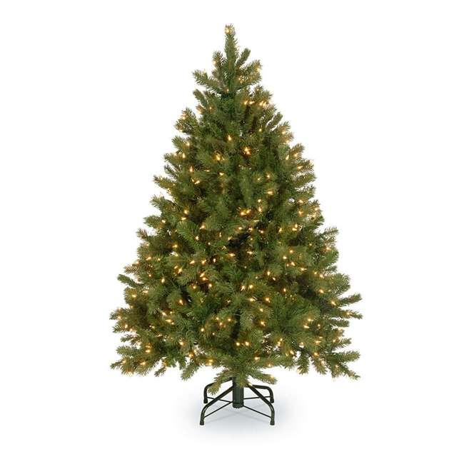"PEDD3-312-45 National Tree ""Feel Real"" Downswept Douglas Fir Tree with Clear Lights, Green"