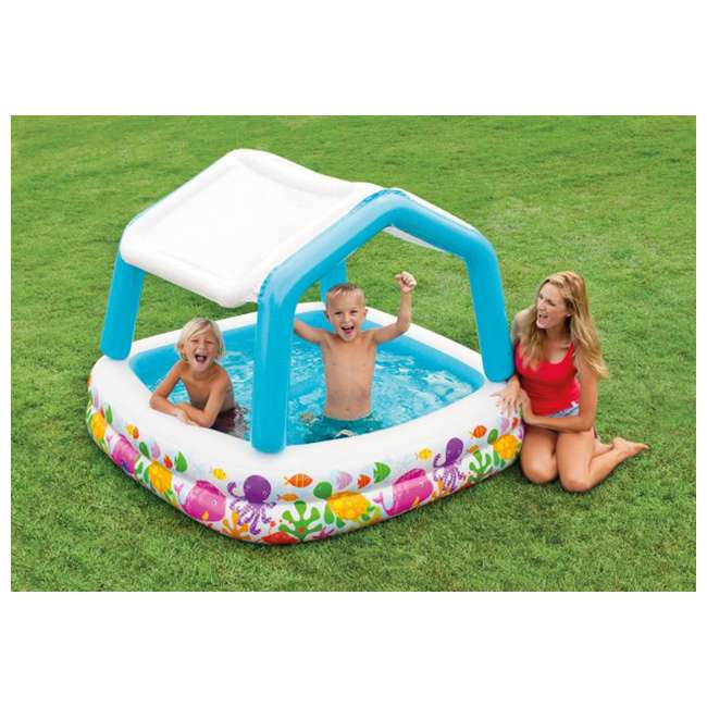 Intex Sun Amp Shade Inflatable Kids Swimming Pool With
