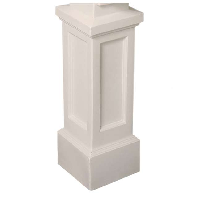 MO-5810-W Mayne Outdoor 5810 Dover Plastic Mailbox Post Pole Mount w/ Paper Holder, White 5