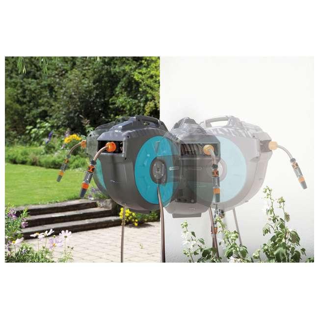 GARD-8023-20 Gardena Wall Mount Automatic Hose 82-Foot Reel Box 1