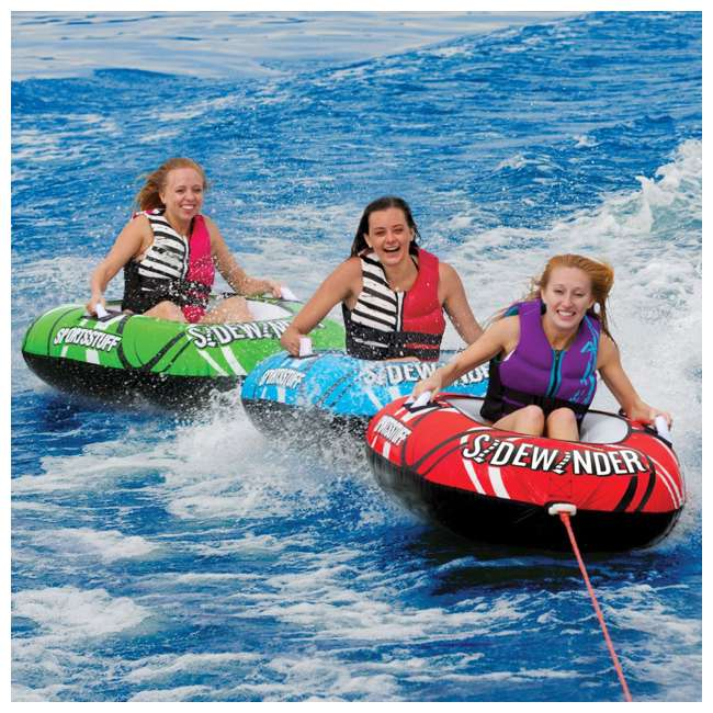 53-4320 Sportsstuff Sidewinder 3 Rider Inflatable Towable Tube (2 Pack) 2