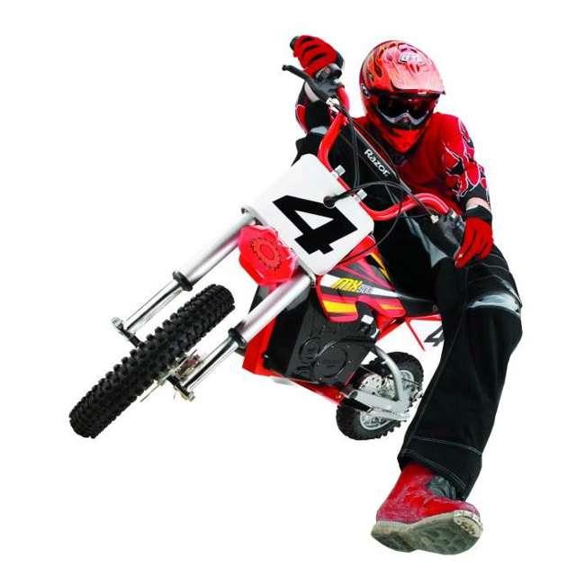 15128190 + 96785 + 97775 Razor MX500 Dirt Rocket Electric Moto Bike with Helmet, Elbow & Knee Pads 2
