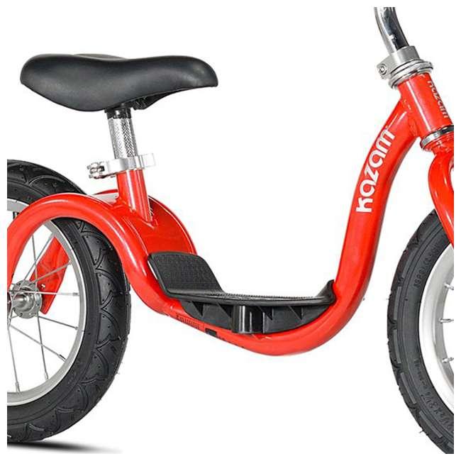KZM15SRD-U-A Kazam Easy Balance Step Through Frame Neo Balance Bike (v2s), Red (Open Box) 3