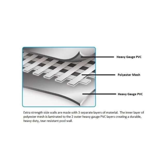 12752-BW + 58388E-BW Bestway 15 x 4 Ft Above Ground Pool w/Cartridge Filter Pump 6