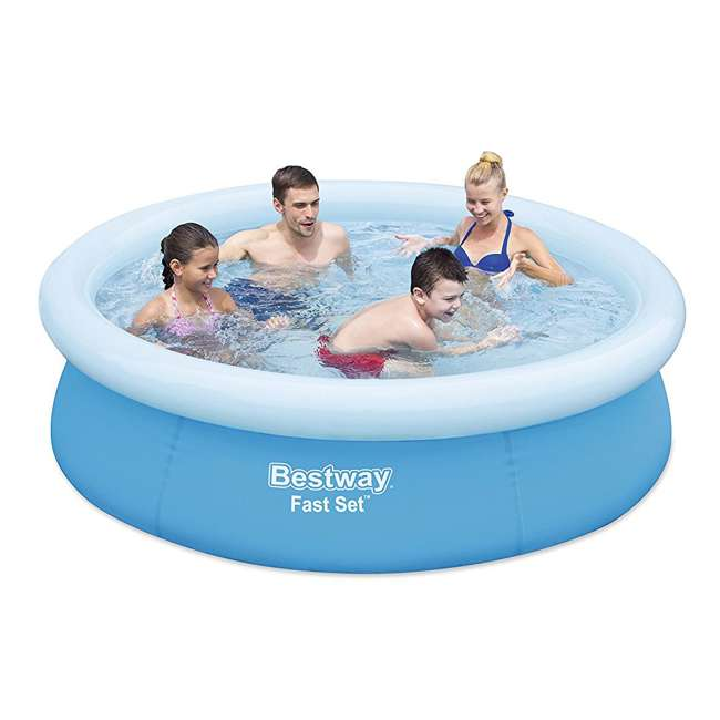 "3 x 57252E-BW-U-A Bestway 6'x20"" Round Inflatable Above Ground Kids Pool, Blue (Open Box) (3 Pack) 1"